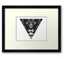 lion inside Framed Print