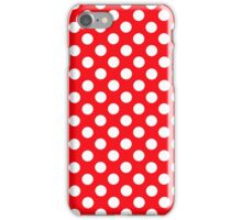 polkadot red iPhone Case/Skin