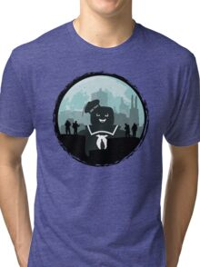 Ghostbusters versus the Stay Puft Marshmallow Man Tri-blend T-Shirt