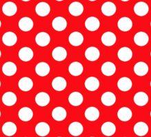 polkadot red Sticker