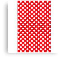 polkadot red Canvas Print