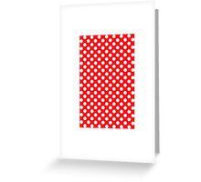 polkadot red Greeting Card