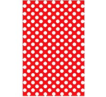 polkadot red Photographic Print