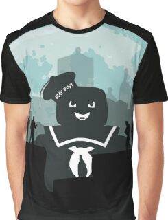 Ghostbusters versus the Stay Puft Marshmallow Man Graphic T-Shirt