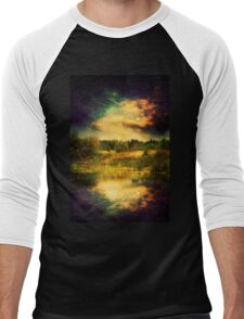 Night Forest and River 2 Men's Baseball ¾ T-Shirt