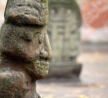 stone Aztec gods by mrivserg