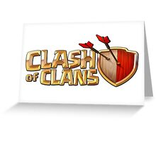 CLASH OF CLANS COC LOGO Greeting Card