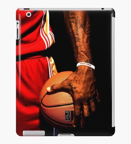 lebron james handling ball iPad Case/Skin