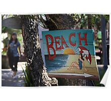 To the Beach!  Poster