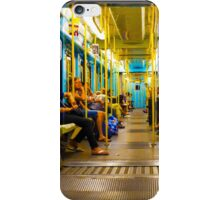 Subway carriage in Milano, Italy iPhone Case/Skin