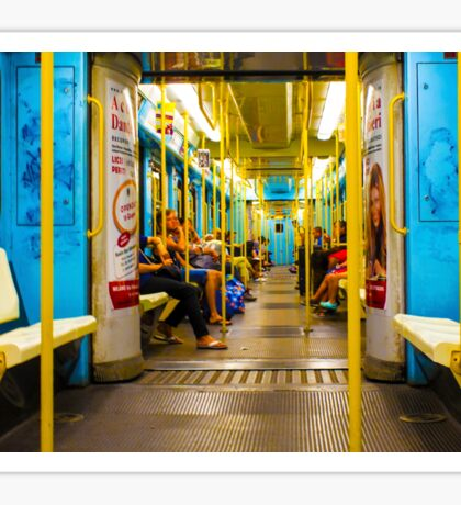 Subway carriage in Milano, Italy Sticker
