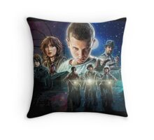 Stranger Things Characters Throw Pillow