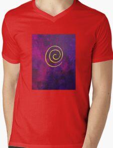 Philip Bowman Deep Purple And Gold Modern Abstract Art Mens V-Neck T-Shirt
