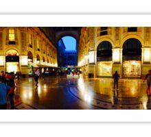 360° Galleria Vittorio Emanuele shopping Center - Milan, Italy Sticker
