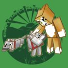 Minecraft Stampy Cat and his dog Gregory - version 2 by ladyjiles