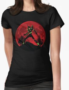 Neon Genesis Evangelion Unit 01 - Hill Top Womens Fitted T-Shirt