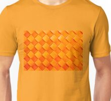 Orange squares, 3D textured background Unisex T-Shirt