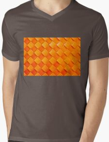 Orange squares, 3D textured background Mens V-Neck T-Shirt