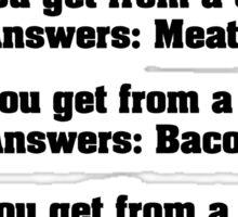 Teacher ask student few questions Sticker