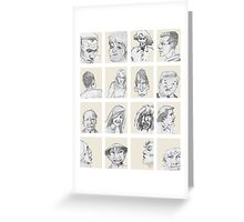 portrait gallery Greeting Card