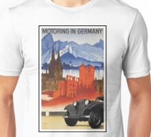 Vintage Motoring in Germany Travel Poster Unisex T-Shirt