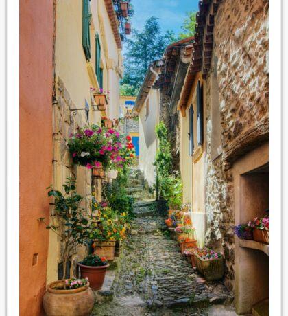A narrow street in Provence village Sticker