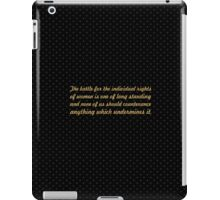 "The battle for the individual... ""Eleanor Roosevelt"" Inspirational Quote iPad Case/Skin"