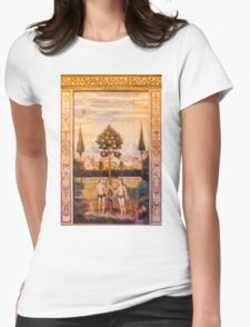 Adam and Eve Oil Painting Womens Fitted T-Shirt