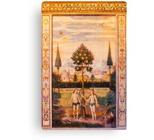 Adam and Eve Oil Painting Canvas Print