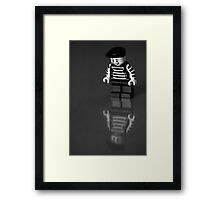 Happy on the outside...  Framed Print