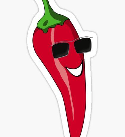Funny Cartoon Chili Dude Sticker Sticker