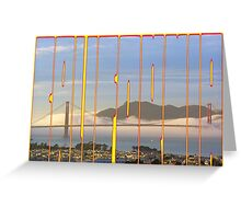 Golden Gate to California Greeting Card
