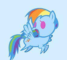 Rainbow Dash Chibi by kferreryo