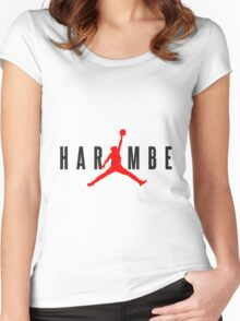 1160 Harambe X Jordan Women's Fitted Scoop T-Shirt