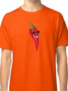 Funny Cartoon Chili Dude Sticker Classic T-Shirt