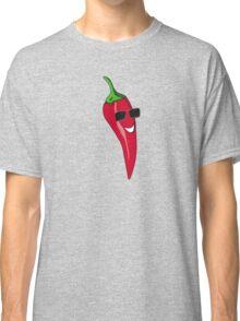 Funny Cartoon Chilli Dude Sticker Classic T-Shirt