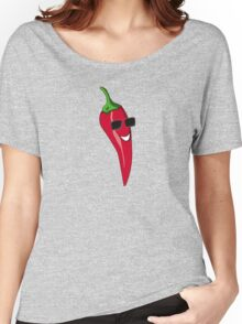 Funny Cartoon Chili Dude Sticker Women's Relaxed Fit T-Shirt