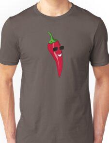 Funny Cartoon Chili Dude Sticker Unisex T-Shirt