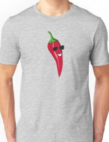 Funny Cartoon Chili Dude Sticker Unisex T-Shirt