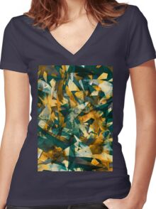 Raw Texture Women's Fitted V-Neck T-Shirt
