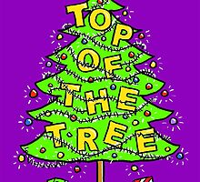 Chrismas Card - Top Of The Tree. by Nigel Sutherland