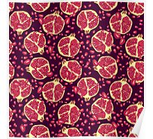 pomegranate pattern Poster