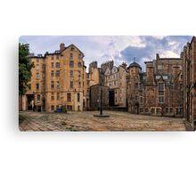 Panorama View: Lady Stairs Close, The Royal Mile Edinburgh Canvas Print