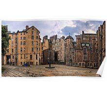 Panorama View: Lady Stairs Close, The Royal Mile Edinburgh Poster