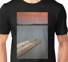 sunset on the lakes in Italy in a long exposure Unisex T-Shirt