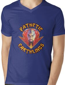 Ming the Merciless - Pathetic Earthlings Distressed Variant Mens V-Neck T-Shirt