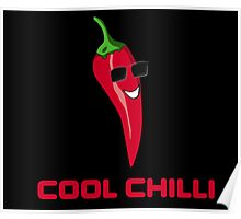 Cool Chilli - Red Hot Pain Burn Food Yum - Toon T-Shirt Sticker Poster