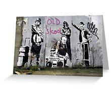 Banksy, Old Skool, London Greeting Card