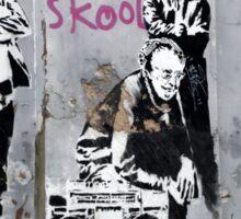 Banksy, Old Skool, London Sticker