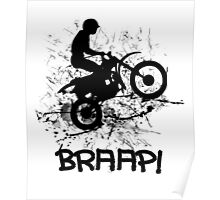 Motocross Dirt Bike Racing Mud Splatter Biker Graphic Poster